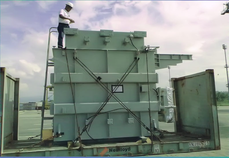 Heavy Transformer Freight, Lifting and Delivery